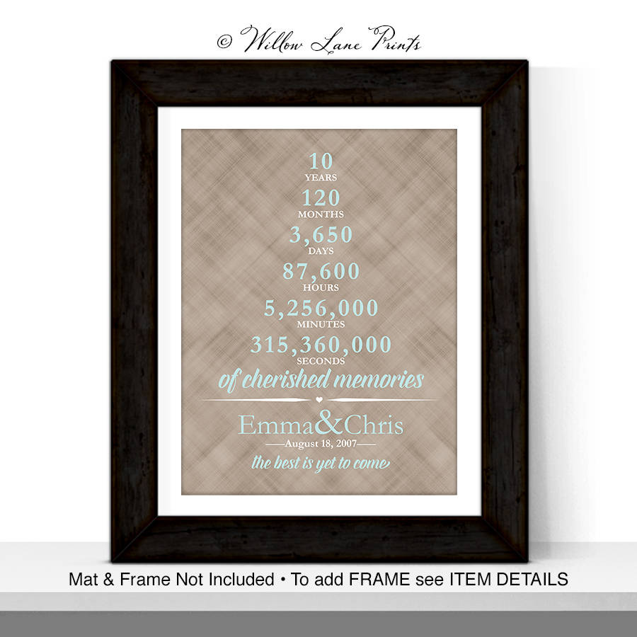 10 Year Anniversary Gift For Men 10th Wedding Anniversary
