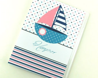 Girl Photo Album Baby Nautical Sailboat Personalized Grandmas Brag Book Photo Album Birthday 4x6 or 5x7 Picture 839