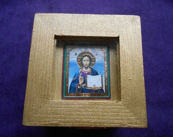 Small holy box with Christ Icon