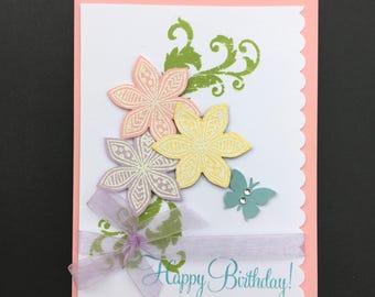 Handmade Card, Scrapbooked Card, Birthday Card, Scrapbooked Birthday Card