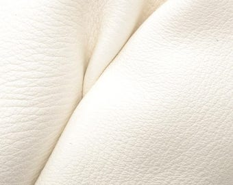 "Off White Sand Leather New Zealand Deer Hide 12"" x 12"" Pre-cut 3 1/2-4 ounces -19 DE-66136 (Sec. 5,Shelf 3,B)"