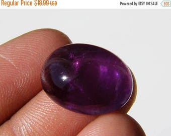80% Sale Natural Amethyst Cabochon, (20x14x8.5MM) Oval Amethyst, Burma Amethyst, 19Ct. Semiprecious, Purple Amethyst Gemstone 20K-433