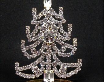 Clear Crystal Mini Christmas Tree