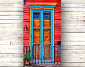 New Orleans Art - BEAD FENCE -French Quarter Doors - Architecture - Photography -Doors - Mardi Gras - Historic Building- Birch Boxes- Wood