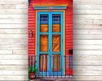 New Orleans Door Art BEAD FENCE French Quarter Doors - Architecture - Photography -Doors - Mardi Gras - Historic Building- Birch Boxes- Wood