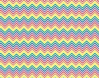 Rainbow and white mini chevron craft  vinyl sheet - HTV or Adhesive Vinyl -  chevron pattern vinyl HTV1547