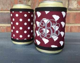 Monogrammed Neoprene South Carolina Can Wrap
