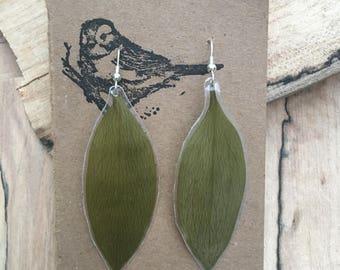 Leaf - Pressed Flower Earrings