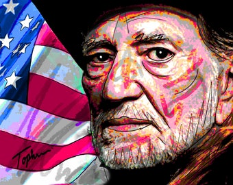 """Limited Edition Print.  """" Willie """" Digital painting, Wall art, Painting. Art print"""