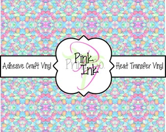 Valentine's Printed Vinyl, Heart Patterned Adhesive Vinyl and Heat Transfer Vinyl in pattern 1018