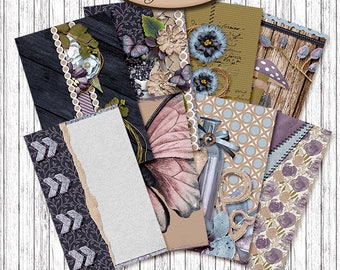 Dashboard Pocket, Field Notes, Travelers Notebook, Filofax, Daily Planner: Efflorescence B