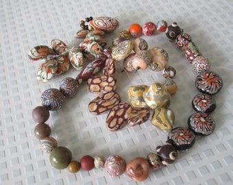 Beads supplies, beads, others, & polymer / beads-artisan beads fimo beads set