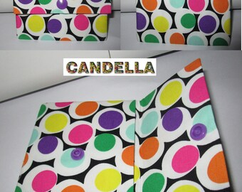 bags/cases/fabric colored dots/door card/double compartments/holder paper pouch