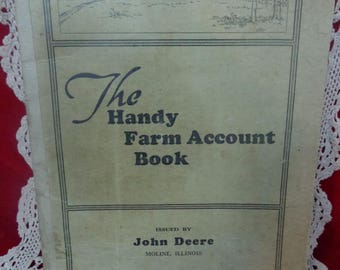 Old Vintage The Handy Farm Account Book Issued By John Deere Old Record Keeping Book Used