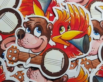 Banjo Kazooie inspired sticker