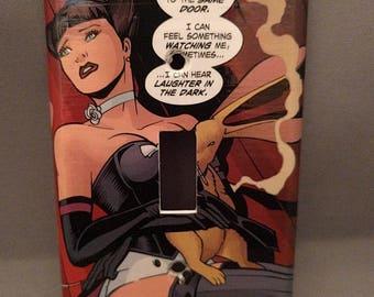 Bombshells Zatanna comic decoupage light switch cover