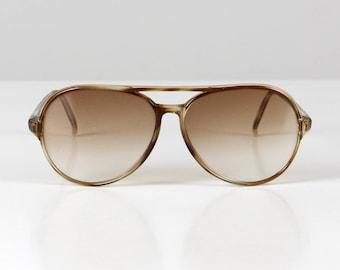 Primetta Vintage glasses, spectacle frame, vintage eyeglasses, vintage spectacles, vintage specs, brown oversize specs