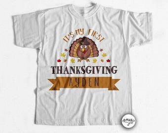 First Thanksgiving Shirt First Thanksgiving Boy First Thanksgiving Girl 1st Thanksgiving