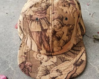 Baroque tapestry baseball hat custom made