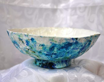Decorative Bowl, OOAK, Upcycled Materials
