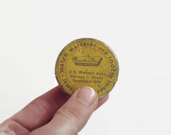 Watch Jeweler's Supplies Tin Vintage Little Tin