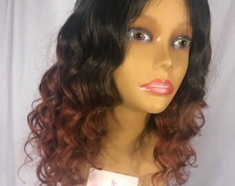 "READY TO SHIP same day !! -- 14""  Brazilian Straight 100% Virgin Top Grade Hair Wig w/ Realistic Lace Closure"