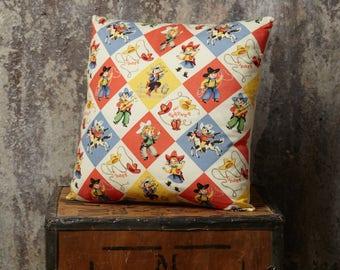 Cowboy Cushion, Cowgirl Cushion, Retro Cowboy Print, Throw Cushion, Decorative Cushion, Insert Included, Cowboy Pillow, Cowgirl Pillow