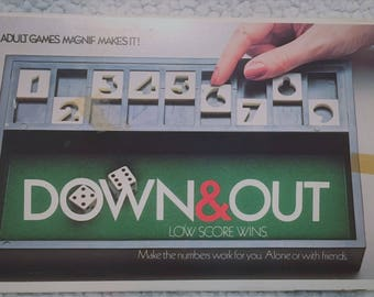Classic Down and Out boardgame, 1979