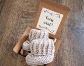 Fawn Booties Pregnancy Announcement Idea - Baby Reveal To Grandparents - Baby Booties Baby Announcement To Family