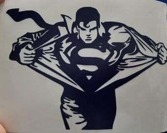 Superman die cut vinyl decal