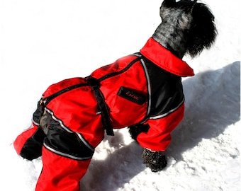 CUSTOM FIT! Dog Winter Clothes. Custom Made Dog Snowsuit. Winter Full Body Jacket. Warm Overall.