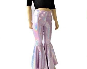 Kids Bell Bottom Shimmering mermaid pants leggings choose color