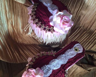 Epaulets in Rich Golds and Wine Colors Designed Especially for the Ladies STEAMPUNK- MILITARY-COSPLAY