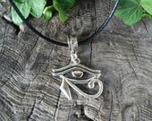 Eye of Horus Pendant, Egyptian, Egyptian Jewelry, Eye of Ra, Eye of Ra Necklace, Wadjet Eye, Wiccan Jewelry, Witchcraft, Egyptian Necklace