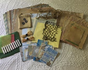Beach Theme Junk Journal Kit - 54 pieces