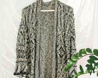 Vintage Grey Open Cardigan Sweater