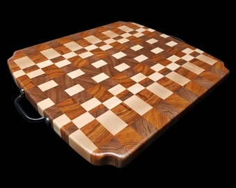 "Exotic Wood Cutting Board  (17.5"" x 15 1/2"" x 1"" Thick)"
