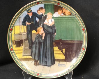 "Norman Rockwell Collector Plate ""An Orphan's Hope"" 7th in the ""Rockwell's American Dream"" Series  1987"