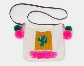 Cactus Weaving Crossbody Bag