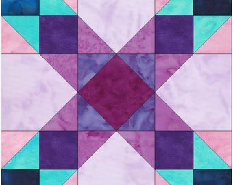 HC Trade 15 Inch Block Paper Template Quilting Block Pattern PDF