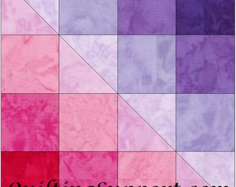 Checkerboard Smash Block 10 Inch Paper Piece Foundation Quilting Block Pattern