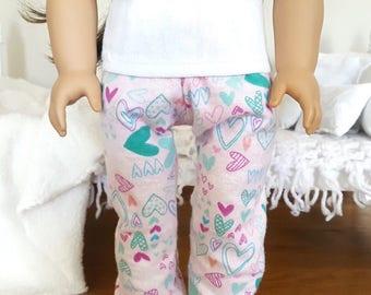 18 inch doll pajama pants | pink pajamas