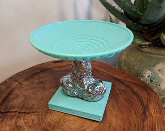 Vintage Avon Soap Dish in Bright Teal