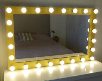xl dimmable vanity mirror handmade mirror with lights