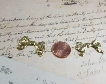Brass Bow Metal Stamping