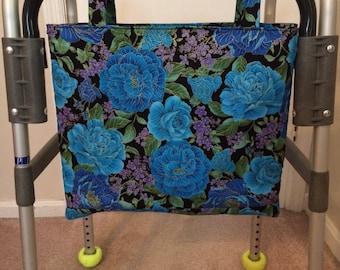 Walker Caddy Bag (blue roses)