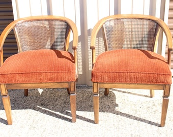Pair of Vintage Cane Back Chairs