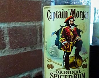 Repurposed Captain Morgan's Rum Bottle Natural Soy Candle