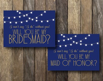 Printable Be My Bridesmaid Cards - Will You Be My Bridesmaid Printable