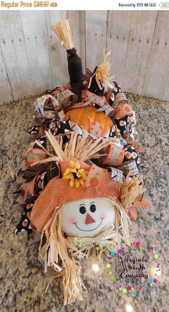 On sale cij fall scarecrow centerpiece pumpkin
